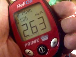 High blood sugar reading