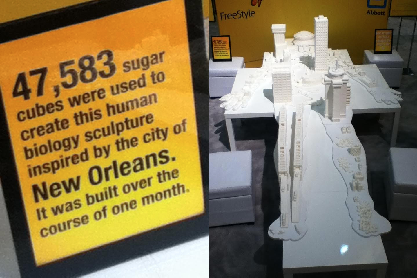 Sugar Cube display