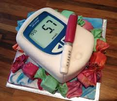 Diabetes Birthday Cake