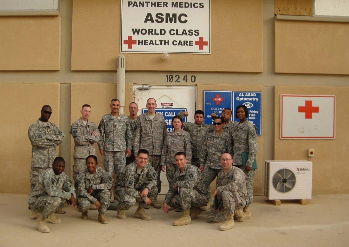 Dr. Jordan Pinsker with Medical Unit in Iraq