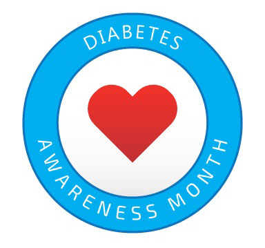 Diabetes Awareness Month Blue Circle