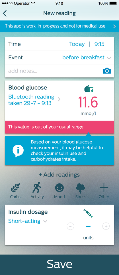 Philips Diabetes Data app