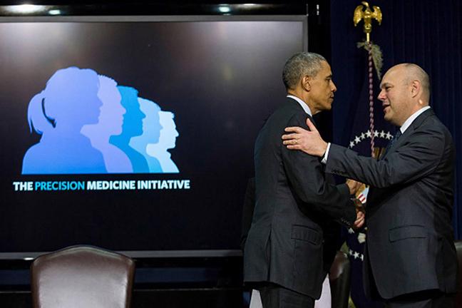 President Barack Obama and Howard Look