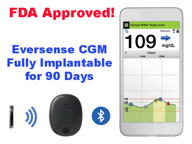 NEWS: Eversense Implantable CGM Gets FDA Approval