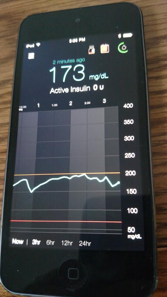 Minimed Connect app glucose range lines