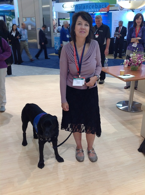 Dr. Dana Hardin with alert dog