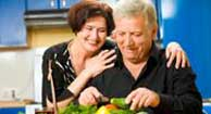 couple preparing a diabetes-friendly meal