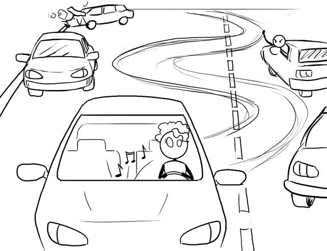 drive in traffic