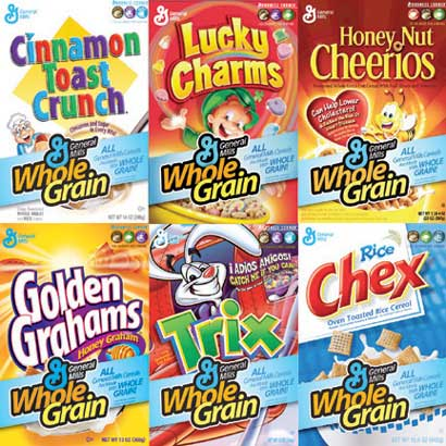 Cereals Include Whole Grains