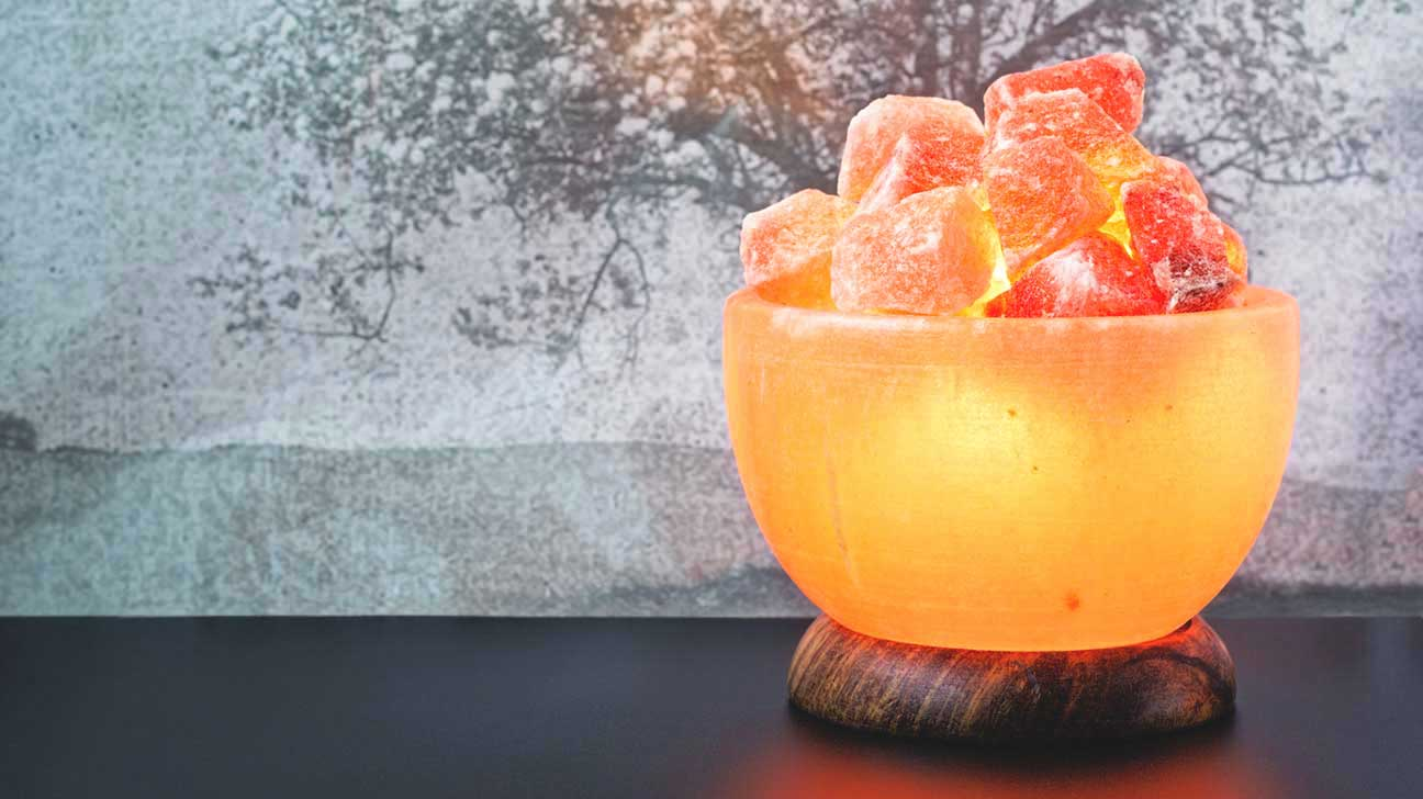 Himalayan Salt Lamp In Shape Of Bowl