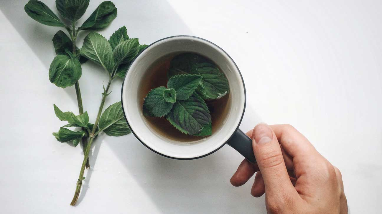 Mint Tea and Leaves