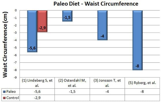 paleo diet and waist circumference
