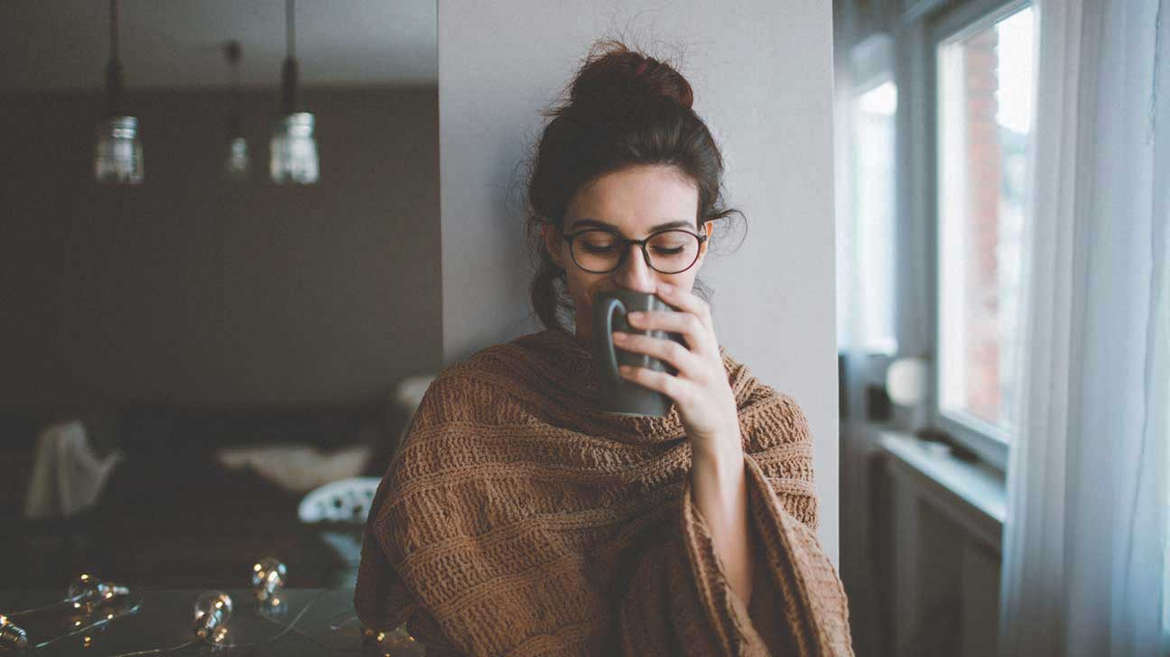 Woman Enjoying Morning Coffee