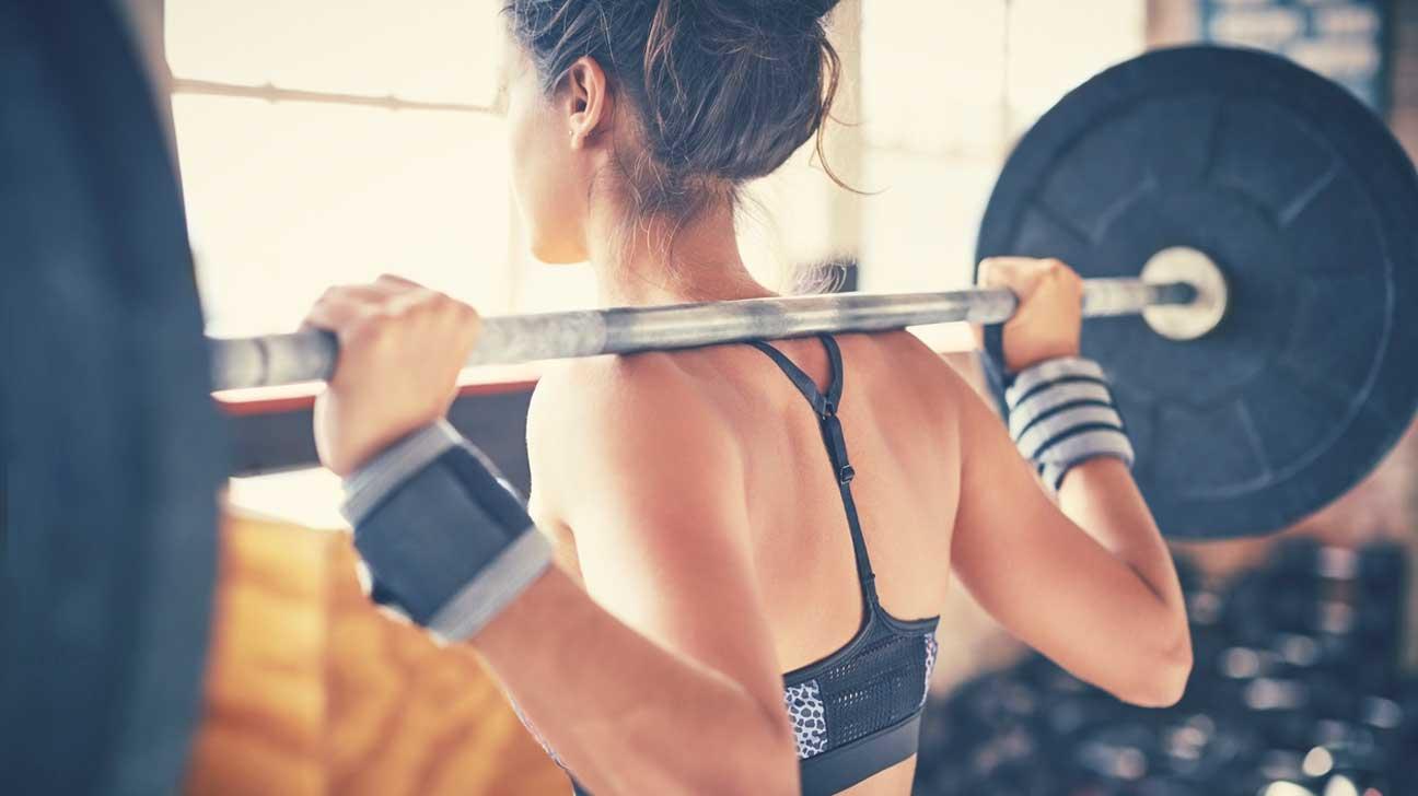 Levantamento de peso da mulher