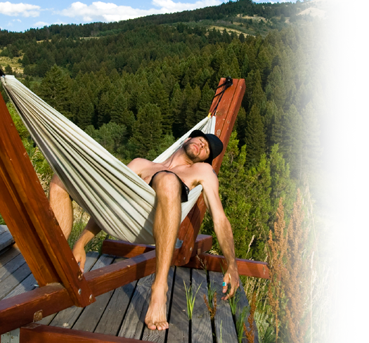Lazy guy in hammock