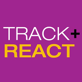 Track and React logo