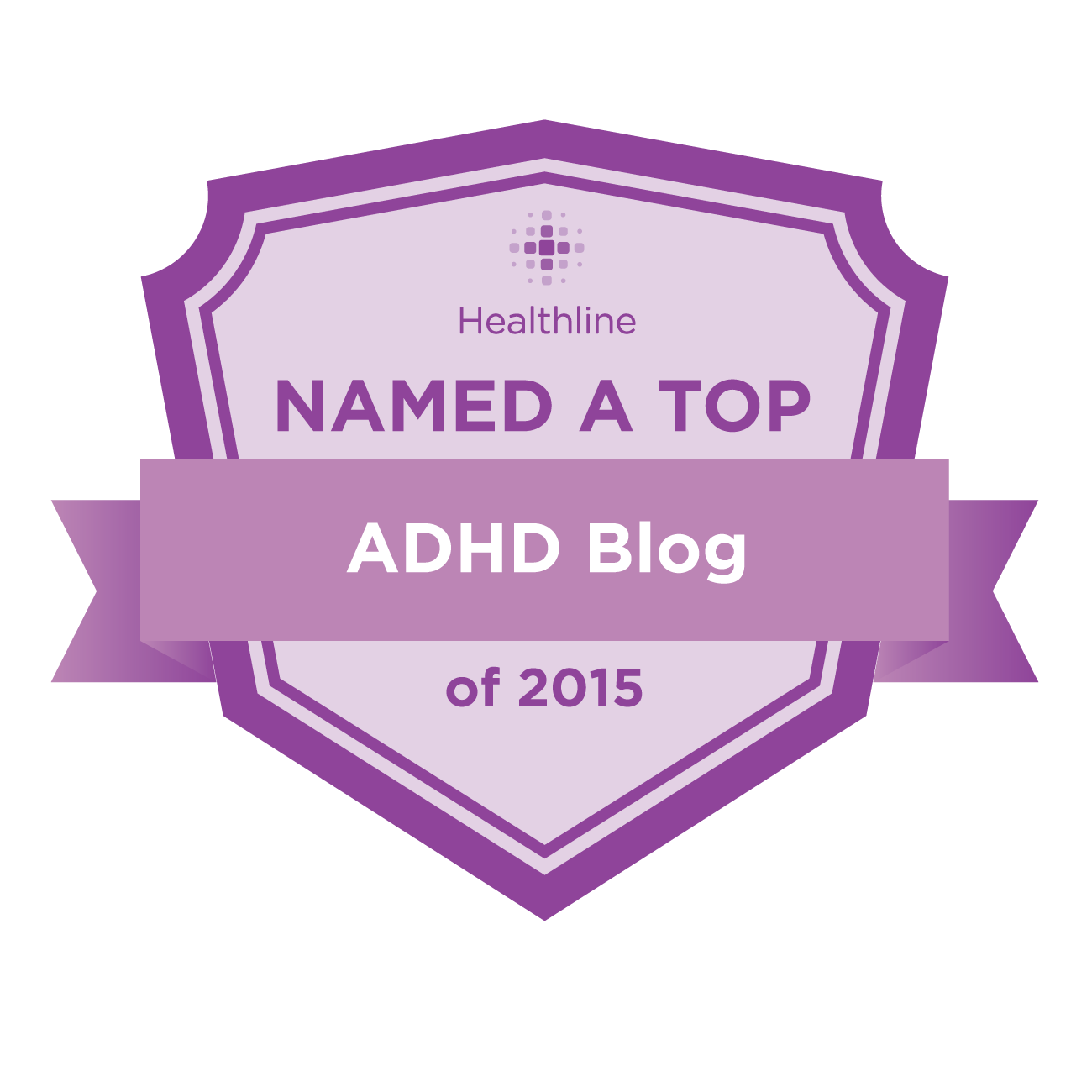 adhd best blogs badge