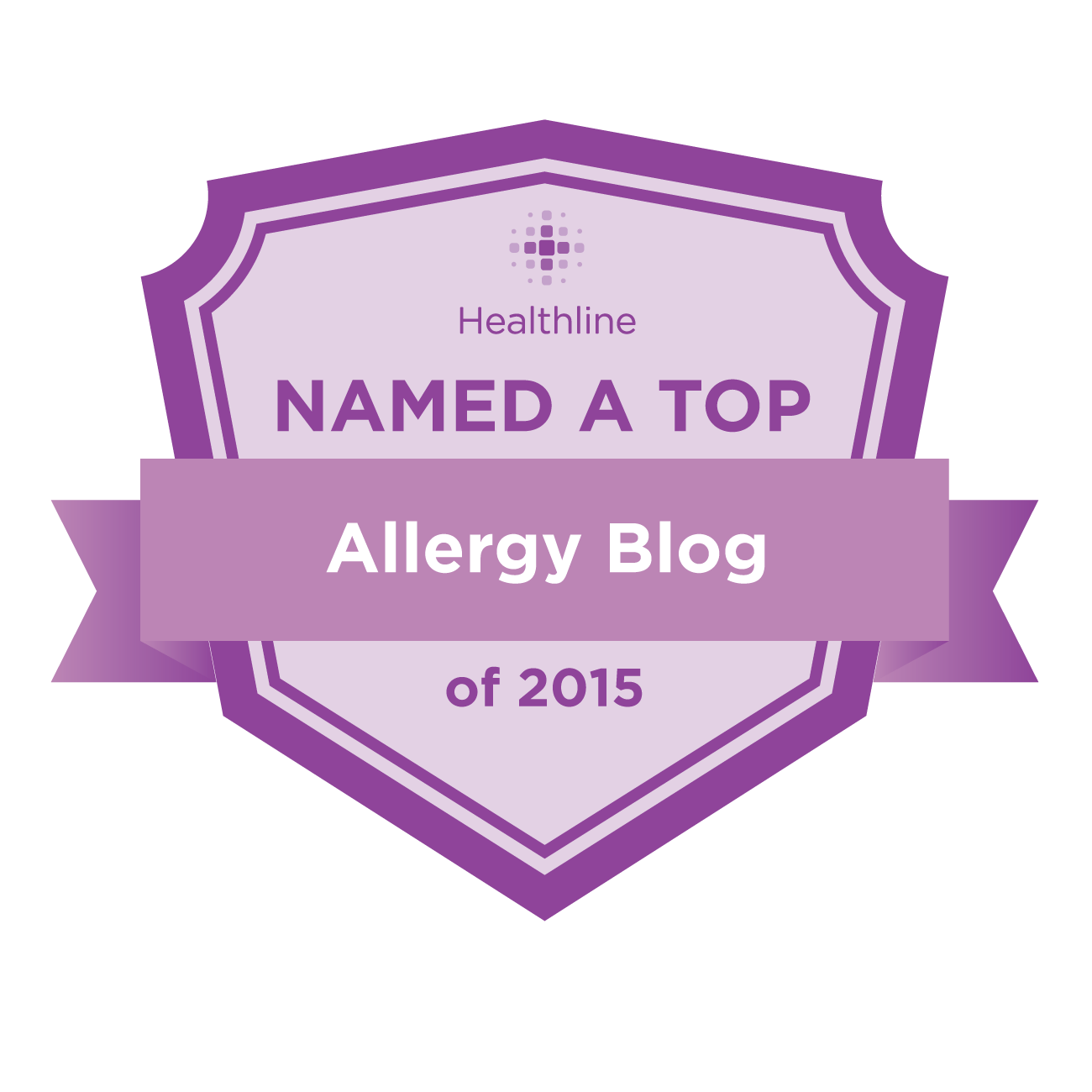 allergy best blogs badge