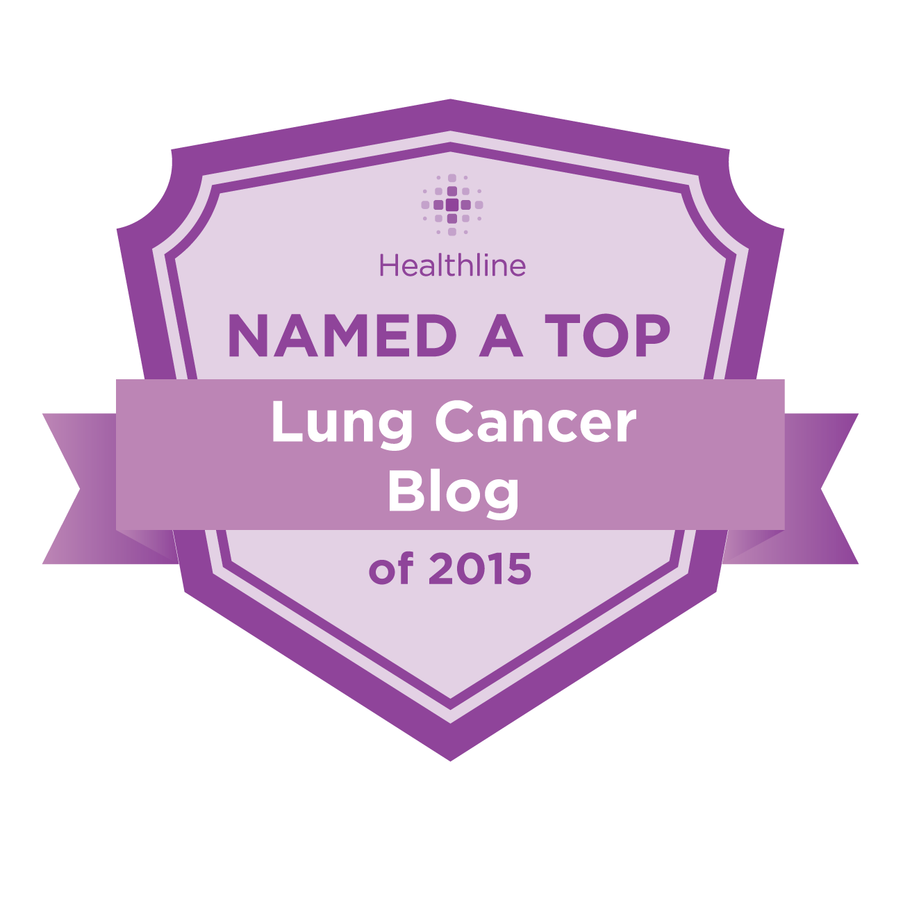 lung cancer best blogs badge