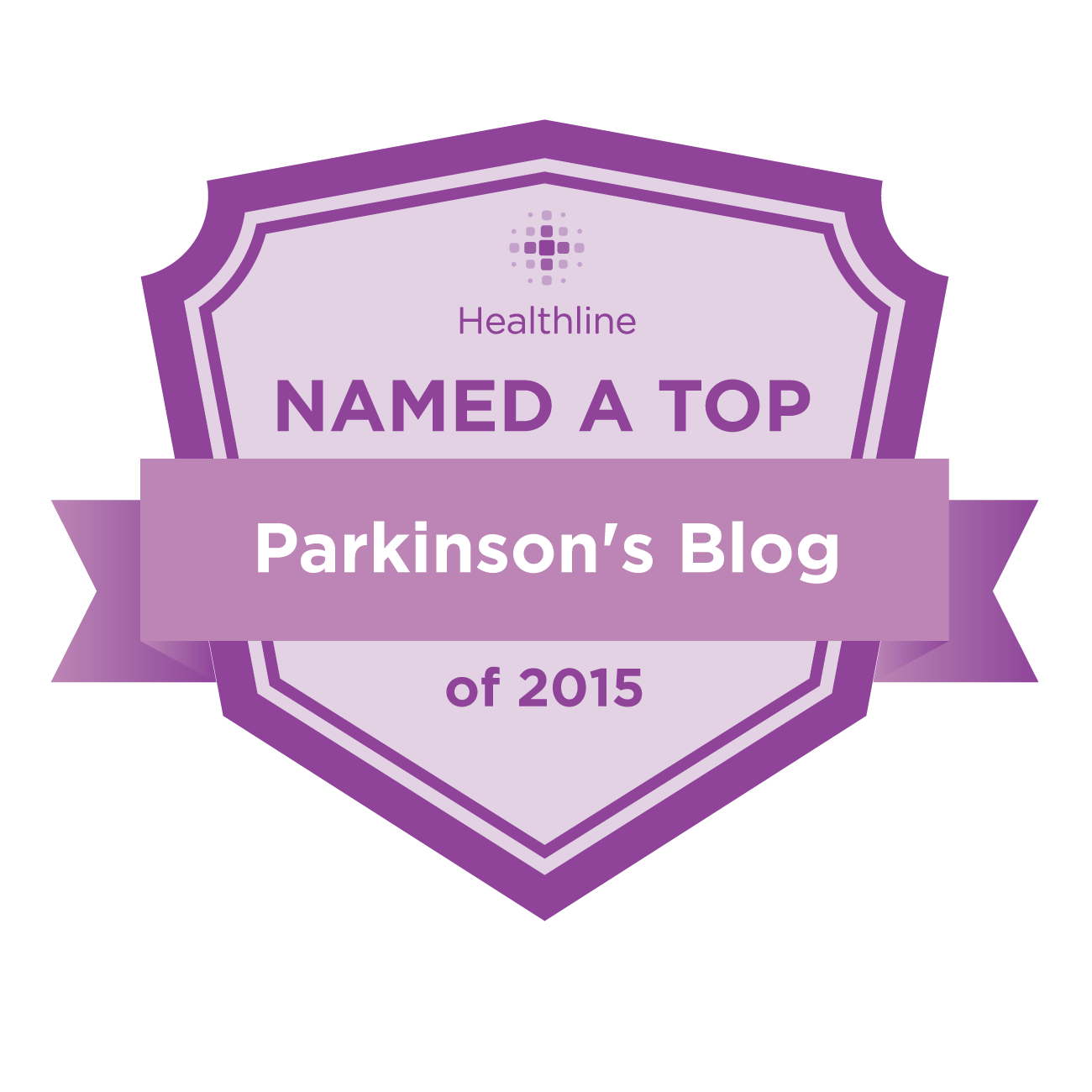 parkinsons best blogs badge