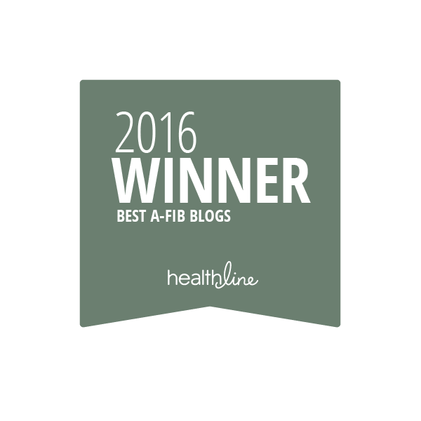 atrial fibrillation best blogs badge