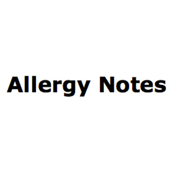 Allergy Notes