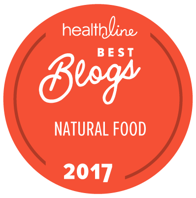 best natural food blogs badge