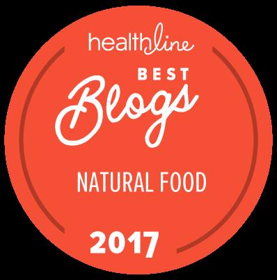 best natural food blogs badge