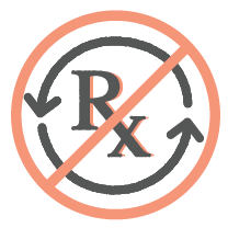 Prescription not refillable icon