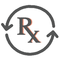 Prescription refillable icon