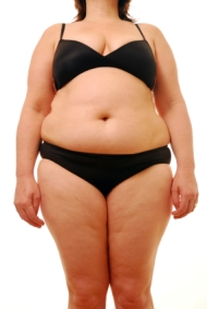 an overweight woman