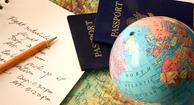 globe and passports