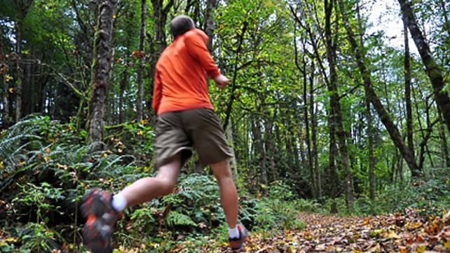 man running on trail