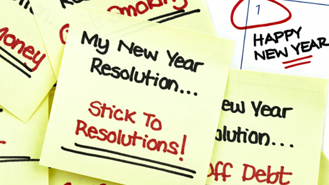 Post it notes with resolutions