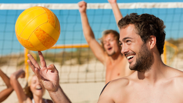 people playing vollyball