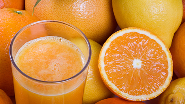 oranges and fresh squeezed juice