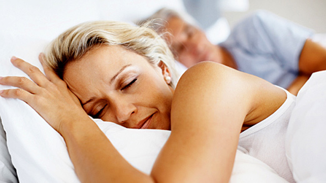 healthy sleeping woman