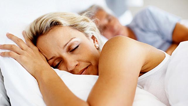 healthy sleeping woman