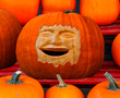 Pumpkin carved face