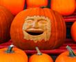 Pumpkin carved face