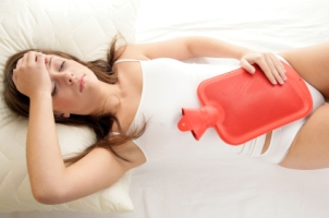 a woman suffers painful menstrual cramps