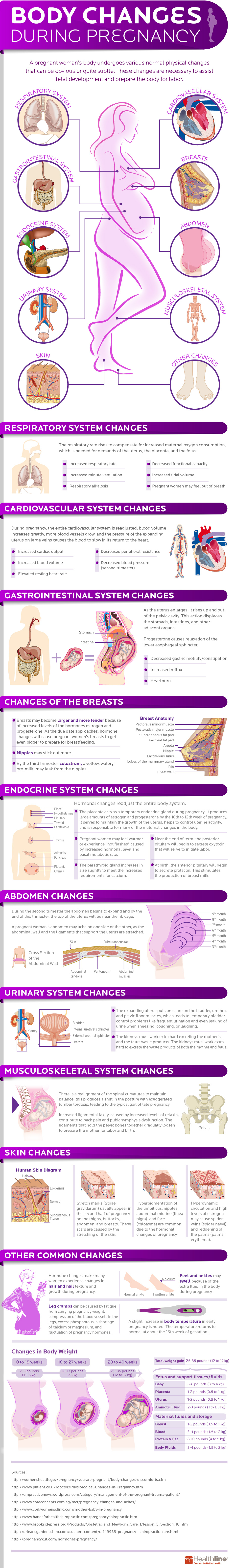 How a woman's body changes when she's pregnant
