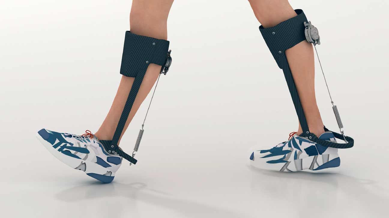 exoskeleton helping person walk
