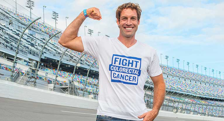 NASCAR Driver Getting the Word Out on Colorectal Cancer