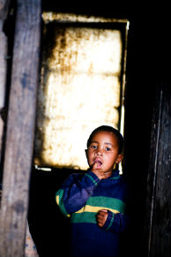 Portrait of a young boy in South Africa