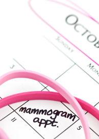 Reminder to get a mammogram