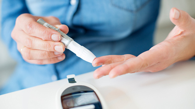 Person checking blood sugar levels