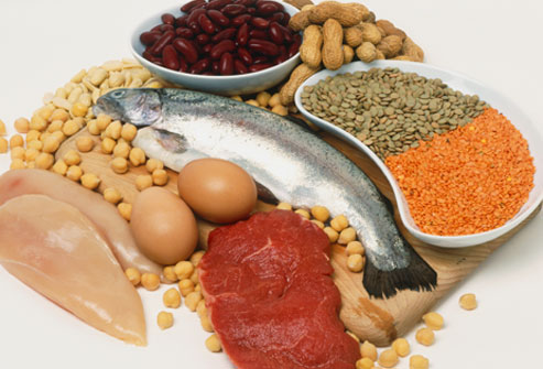 Fish, beans, and nuts provide great sources of protein