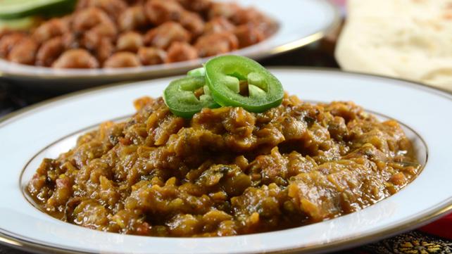 Baingan Bharta in a bowl