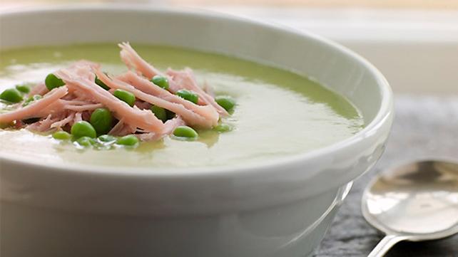 Fresh Pea Risotto Soup